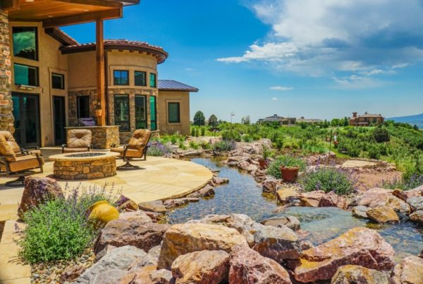 patio, Building a house near a pond or lake isn't the only way to enjoy water in your backyard.